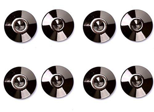 MiCity Solid Pure Copper 24K Black Nickel Plated Speaker Spike Pads Shoes feet Set of 8 Pieces