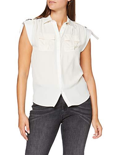 Pinko Dottie Camisa, Blanco (Bianco Seta Z07), 38 (Talla del Fabricante: 42) para Mujer
