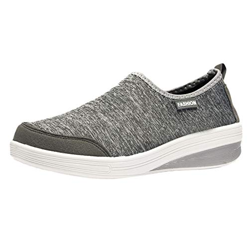 Honestyi Shoes Casual Femme Sneakers Maille Respirant Chaussures de Running Sport Baskets Poids léger Grande Taille Chaussures de Outdoor Couleur Unie Sneakers Fond Plat Footwear