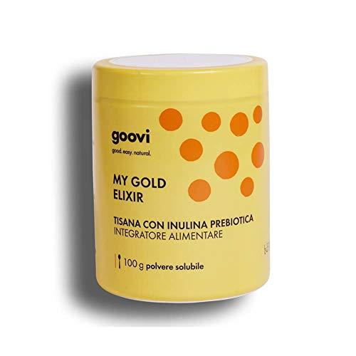 Goovi Integratore Alimentare My Gold Elixir Tisana Prebiotica, 100 g