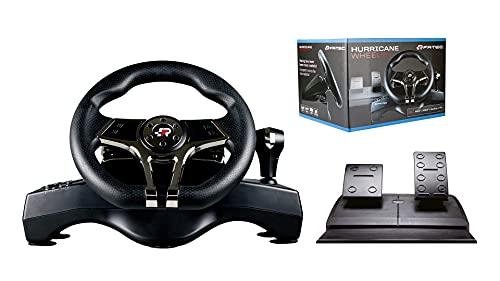 FR-TEC - HURRICANE MK II Volante de Carreras con Pedales (Playstation 4, Playstation 3, Switch y PC)