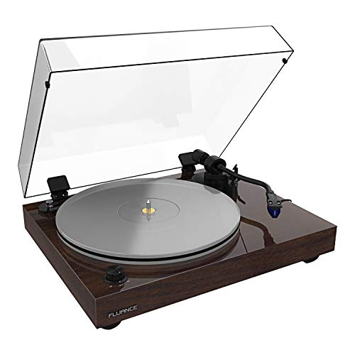 Fluance RT85 Reference High Fidelity Vinyl Turntable Record Player with Ortofon 2M Blue Cartridge, Acrylic Platter, Speed Control Motor, Solid Wood Plinth, Vibration Isolation Feet - Walnut