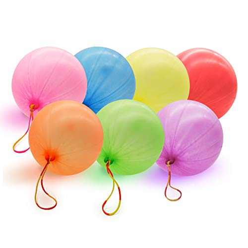 Neon Punch Balloons - 35PCS 12 - Fun-Filled Kids Games and Party Games - Carnival Prizes Box for Kids Classroom Bulk Toys for Classroom Birthday Celebration - Eco Friendly Natural Latex Punch Balls -