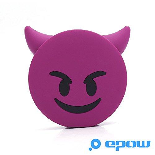 EPOW® Cargador de Diablo 2600mAh Emoji Power Bank Devil Purple Portable Emoticon de la batería Evil Fun, Cargador de Banco de energía Externa Compatible con iPhone, Samsung y Todos los Smartphones