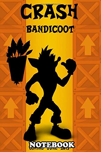 """Notebook: Crash Bandicoot Minimalist Poster This Character Was A , Journal for Writing, College Ruled Size 6"""" x 9"""", 110 Pages"""