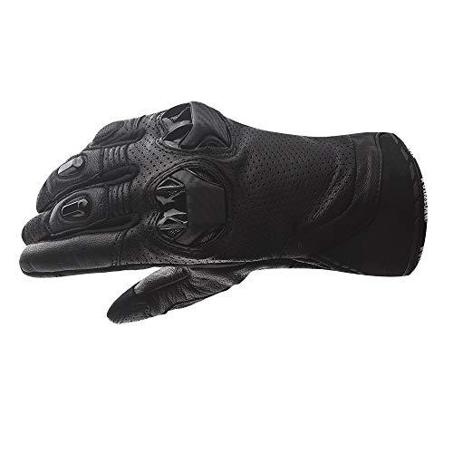 Full Finger Motorcycle Gloves Men's Leather Motorbike Gloves (L)