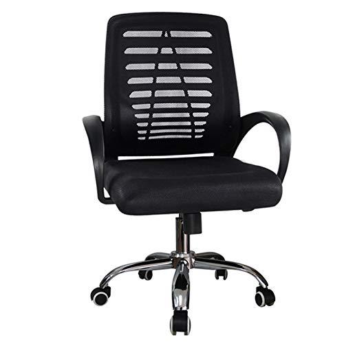 LYLY Silla de oficina cómoda y ergonómica de malla giratoria para computadora con altura ajustable y altura inclinada a la rodilla (color A: A)