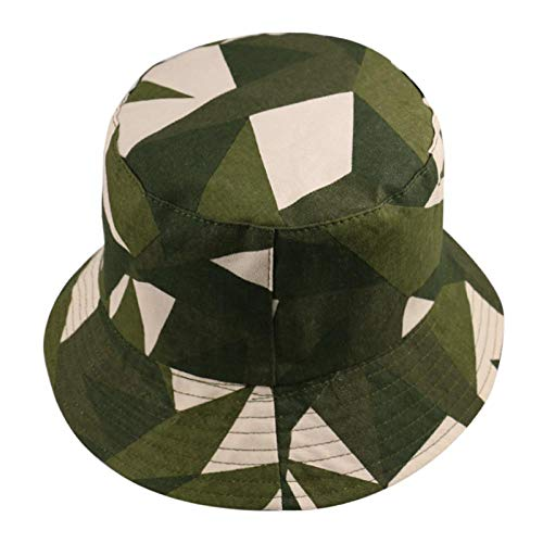 Bucket Hat Chapeau Bonnet D'Extérieur Multicolore Jaune Rose À Carreaux Geometri Bucket Hat Casquettes De Pêcheur Réversibles Femmes Hommes Vert