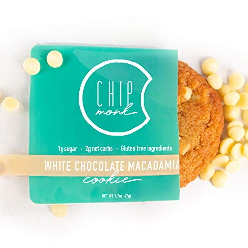 ChipMonk Cookies - Healthy, Low Carb, Keto, All-Natural & Gluten-Free Desserts & Snack Foods (White Chocolate Macadamia, 12 cookies)