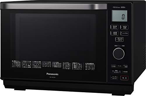 パナソニックエレックオーブンレンジ26Lフラットテーブル遠赤Wヒータースイングサーチ赤外線センサーブラックNE-MS266-K