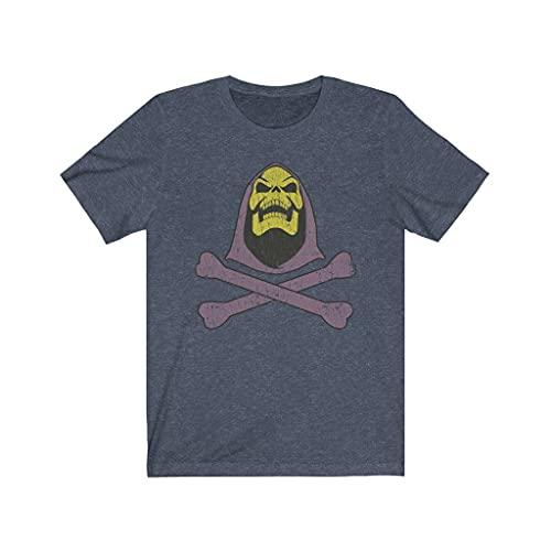 Skeletor and Crossbones 1981 Vintage Men's T-Shirt Heather Navy