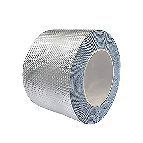 防水テープ ダクトテープ ラブリ− 屋根 雨漏り 防水 補修テープ 壁 台所 配管 車両 浴槽 ひび割れ 補修 強力テープ 屋内 屋外業務 家庭 工業 多用途テープ 幅10cmx長さ500cm、ホワイト(1個入り)