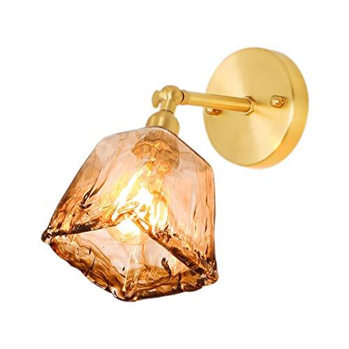 Lámpara de Pared Lámpara de Pared Sencilla Hecha a Mano de latón Cama y Desayuno del Dormitorio de Lujo luz Oro Retro nostálgico de Noche lámpara de Pared Creativa de Edison Luces de Pared