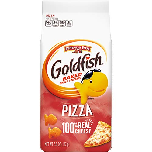 Pepperidge Farm Goldfish Pizza Crackers, 6.6 Ounce Bag, (Pack of 24)