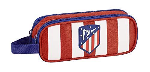 Club Atlético de Madrid Estuche, Niños, Roja, 21 cm
