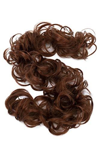 PRETTYSHOP XXL Haarteil Haargummi Hochsteckfrisuren Voluminös Gelockt Unordentlich Dutt Kupferrot HW20