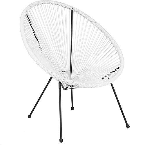 T-ara Suave y Confortable Silla de salón/Silla de salón Grande/Exterior/Exterior para Silla Exterior/de bistró/terraza Mobiliario diseño de Moda (Color : White Chair {One})