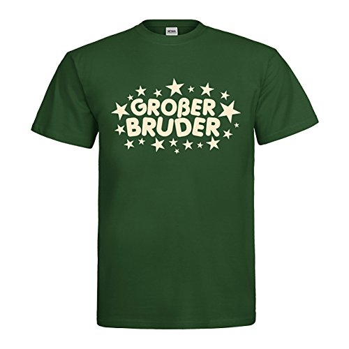 Großer Bruder T-Shirt N14-mdma-t00653-261 Textil Bottlegreen/Motiv beige Gr. S