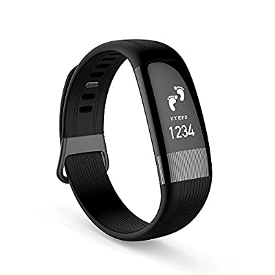 ECK Fitness Tracker Activity Tracker, Waterproof Smart Band Watch with Heart Rate Monitor Pedometer Calories Sleep Tracking Blood Pressure ECG Monitor Smart Bracelet for Android iOS Smart Phone