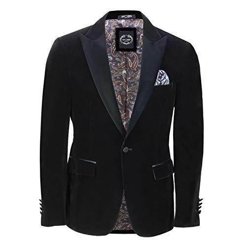 Xposed Los Hombres de Terciopelo Tuxedo Blazer [BLZ-DINNER-TIM-BLACK-52,62EU]