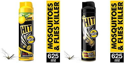 HIT Mosquito and Fly Killer Spray Combo (625ml – Kala HIT Lime) and (625ml – Kala HIT)