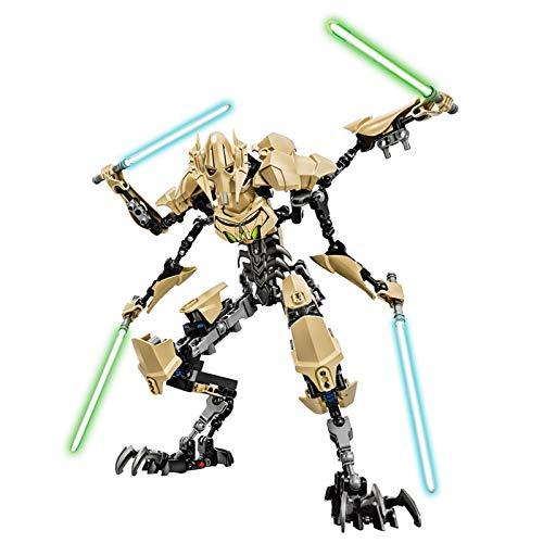 YooFit Figuras de Anime de Star Wars General Grievous, Figura de acción, Serie Negra y Stormtrooper Imperial, Modelo de Estatua móvil, Juguete de Regalo