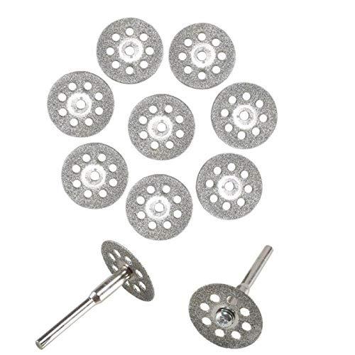 10x Mini Diamant Coupe Disque Roue Lame de Scie Kit Pour Dremel Rotatif Outi,pour couper, scier, couper, meuler et aléser des matériaux durs