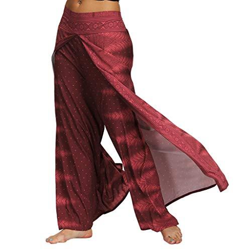Allence Yoga Hosen Baggy Hippie Boho Hose Haremshose Hosenrock Aladinhose Pumphose Pluderhosen für Damen