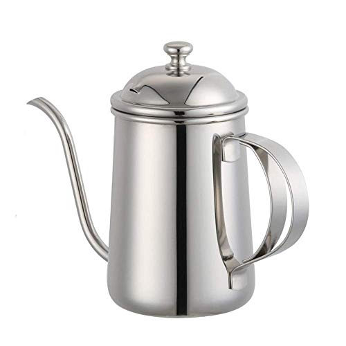 Het gieten van de koffie theepot 650ML RVS Koffiepot zwanenhals Tuit Giet over koffie Ketel Koffiezetapparaat Koffie Drip Ketel zwanenhals Coffee Pot Thin Mouth coffee pot