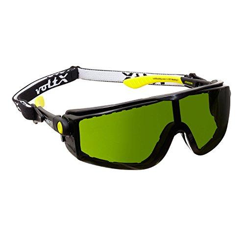 voltX 'Quad' 4 in 1 - Lectura Segura Gafas de Soldadura - n¡ 3 - con inserci—n de Espuma y Diadema - certificaci—n CE EN166f