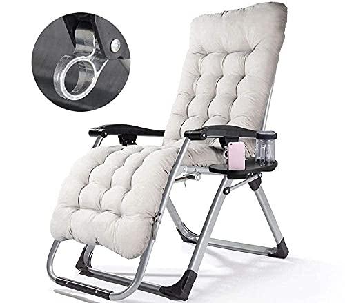 Tumbona reclinable, silla de oficina de ingeniería humana, silla de salón de jardín al aire libre, silla de jardín casual, terraza solárium, silla de jardín, adecuada para interiores y exteriores