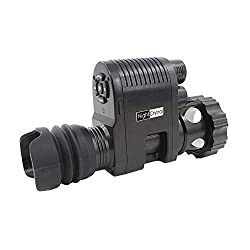 Meagorei3 Sniper 720p HD Digital Night Vision Scope Video Record Camcorder Monocular Clip on Attachment with Built-in 850nm Infrared IR Flashlight and 1.3inch Display for Rifle Hunting Recoil Proof