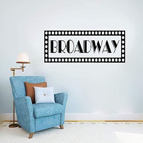 stickers muraux noir salle de bain Broadway New York signe pour le salon