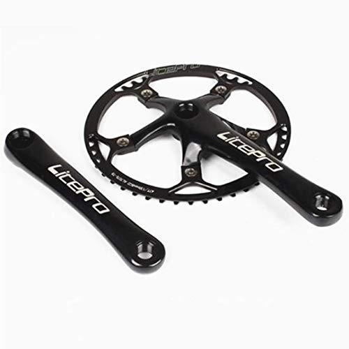 Folding Bike Square Bicycle Crank Crankset BCD130 Single 45/47/53/56/58T Chainwheel Aluminum Alloy C...