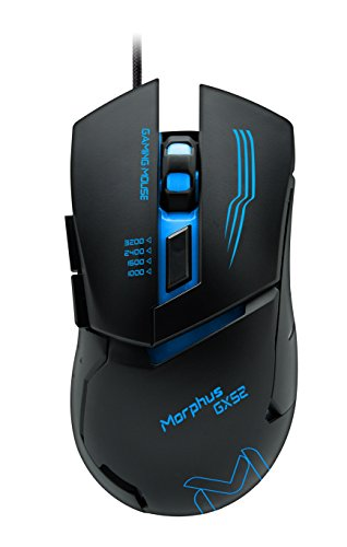 Gaming Mouse,6 Buttons, 4 Adjustable DPI Levels, 7 Circular & Breathing LED Light, AIKUN MORPHUS (GX52) Multifunction Wired Mouse Used for Games and Office