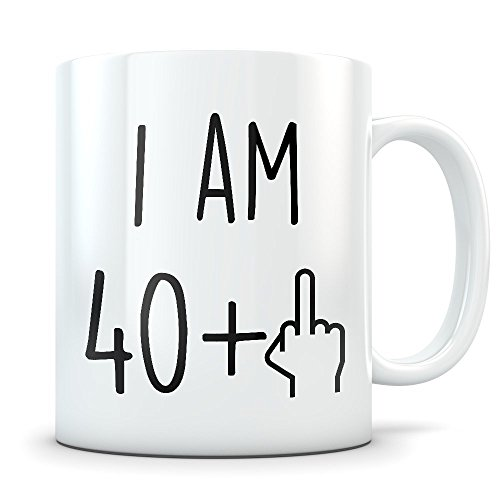 Funny 41st Birthday Gift for Women and Men - Turning 41 Years Old Happy Bday Coffee Mug - Gag Party Cup Idea as a Joke Celebration - Best Adult Birthday Presents