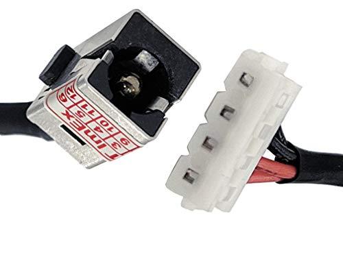 HT ImEx - Conector de alimentación hembra de alimentación DC Jack compatible con Toshiba Satellite C875-130, C875-10F, C875-13F, C875-105, C875-136, C875-107, C875-13E