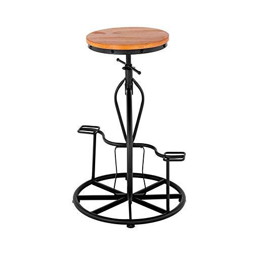 Bar en fer forgé Chaise moderne Ajustement solide Dossier Chaise haute en bois Bar/restauration Lait Tea Shop (Color : Stool)