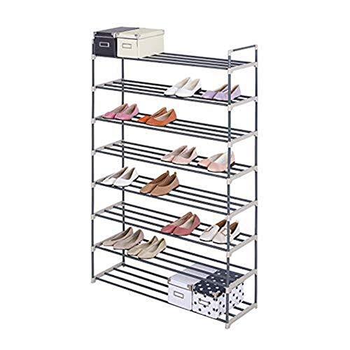 GUOCAO Zapatero alto de 8 niveles, organizador de almacenamiento pequeño para 40 pares de zapatos para el hogar