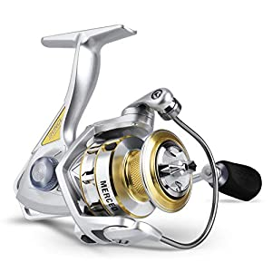 RUNCL Spinning Fishing Reel Merced 2000, Spinning Reel - 10+1 HPCR Ball Bearings, Entire Sealed Drag System, CNC Line Management, Smooth Operation, Braid-Ready Spool, Ergonomic Handle - Fishing Reel
