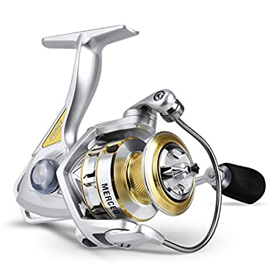 RUNCL Spinning Fishing Reel Merced, Spinning Reel - 10+1 HPCR Ball Bearings, Entire Sealed Drag System, CNC Line Management, Smooth Operation, Braid-Ready Spool - Lightweight Fishing Spinning Reel