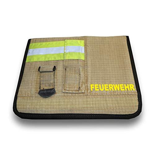 Roter Hahn 112 Hochwertige Feuerwehr Schreibmappe PBI Gold Organizer Konferenzmappe HUPF Design Reflex +Feuerwehr