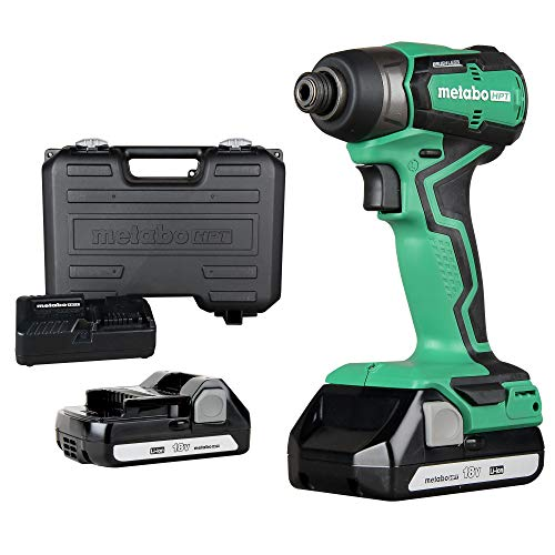 Metabo HPT Cordless 18V Impact Driver | SubCompact | Brushless Motor | LithiumIon Batteries | Lifetime Tool Warranty | WH18DDX