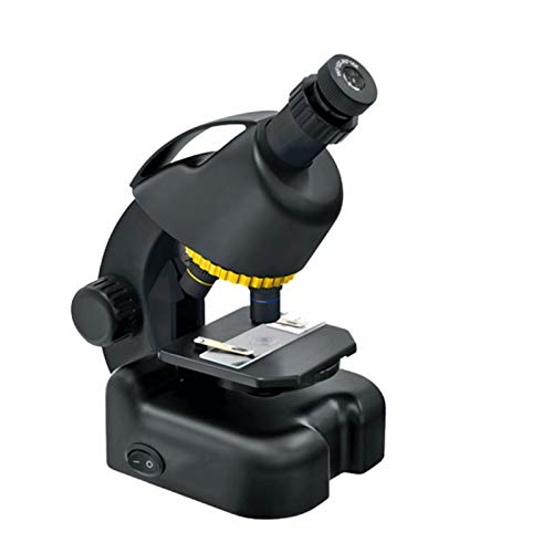 National Geographic Microscope 40x-640x Children's Microscope Set Monocular Microscope,Eyepiece (10x 16x),Objective Lens (4x/10x/40x),Battery Powered,16.5x11.5x22cm