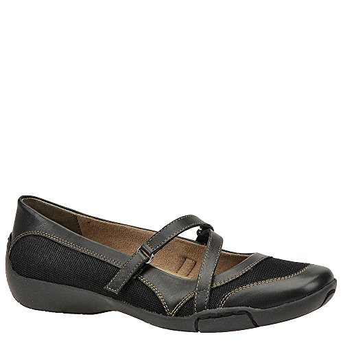 Auditions Womens Crescent Almond Toe Clogs, Black, Size 7.0