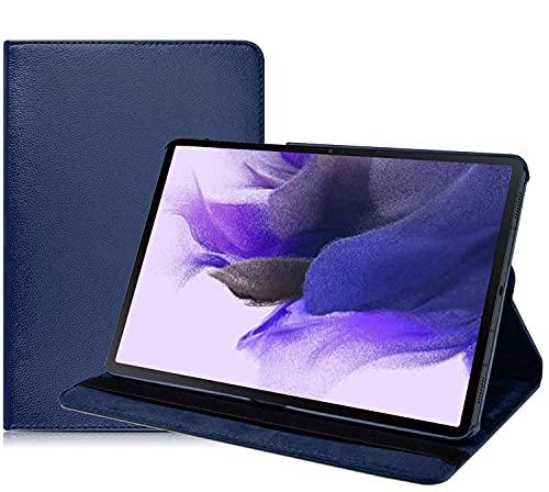 iPro Accessories Funda compatible con Samsung Galaxy Tab S7 FE, Samsung Galaxy Tab S7 FE Funda giratoria de 360 grados con función atril y apagado automático para Samsung Galaxy Tab S7 FE (azul)