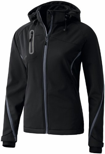 Erima Damen Softshelljacke Function, schwarz/anthrazit, 36