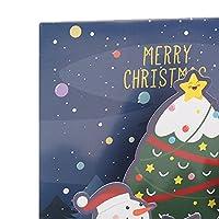 3Dクリスマスカード、スタイリッシュなクリスマスカード感謝祭のためのクリスマスギフトのための美しい色-速い絶妙な(タイトルC)