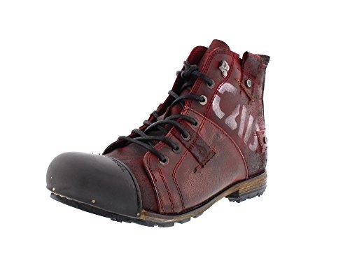 Yellow Cab Herren Industrial M Biker Boots, Rot Brick, 44 EU