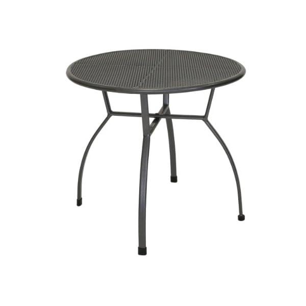 greemotion Gartentisch Toulouse rund, Ø ca. 80 cm, pflegeleichter Tisch aus kunststoffummanteltem Stahl, Esstisch mit…